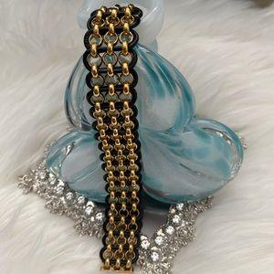 Henri Bendel Black/Gold Bracelet